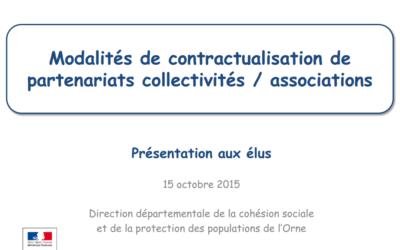 Modalités de contractualisation de partenariats collectivités/ associations
