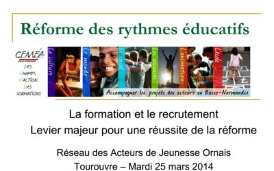 Réforme des rythmes éducatifs