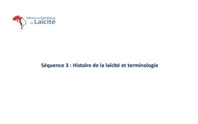 Histoire de la laïcité et terminologie
