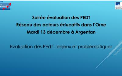 Evaluation des PEDT : enjeux et problématiques