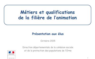 Métiers et qualifications de la filière de l'animation