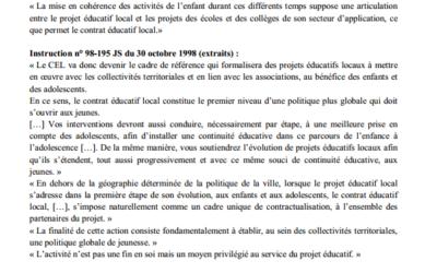 Cadrage et éléments de définition PEL-PEDT POTS-Projet d'école-Projets ACM (PE et PP)