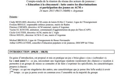 Education à la citoyenneté : lutte contre les discriminations  et participation des jeunes en ACM