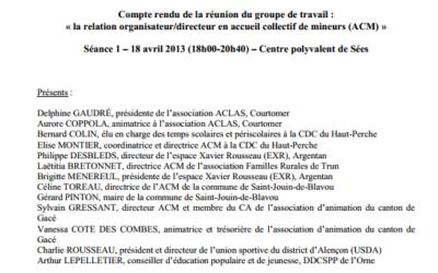 la relation organisateur/directeur en accueil collectif de mineurs (ACM) – Les représentations