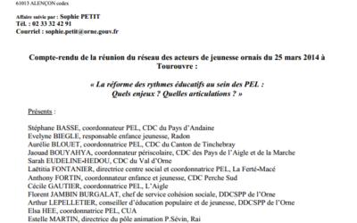 La réforme des rythmes éducatifs au sein des PEL : Quels enjeux ? Quelles articulations ?
