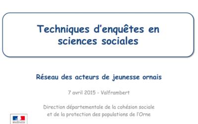 Techniques d'enquêtes en sciences sociales