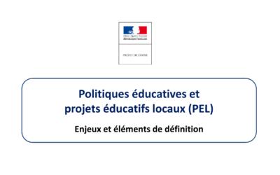 Politiques éducatives et projets éducatifs locaux (PEL)