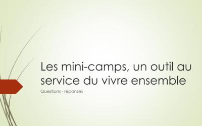QUIZZ les mini-camps, un outil au service du vivre ensemble